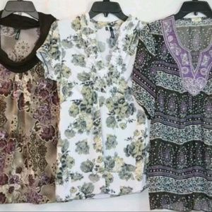 Maurices Studio Y 3 Pc Shirt Top LOT Size M